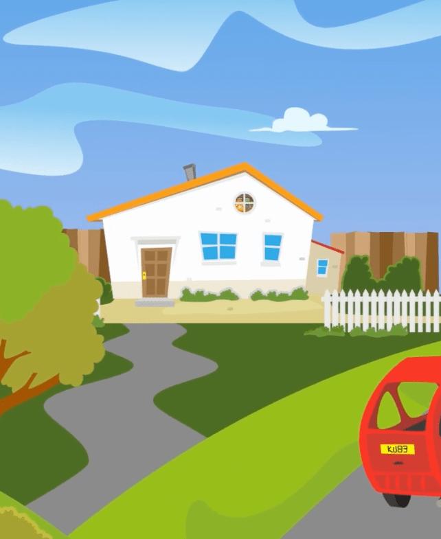 Movem Explainer Videos - 2d Animation House on a Hill
