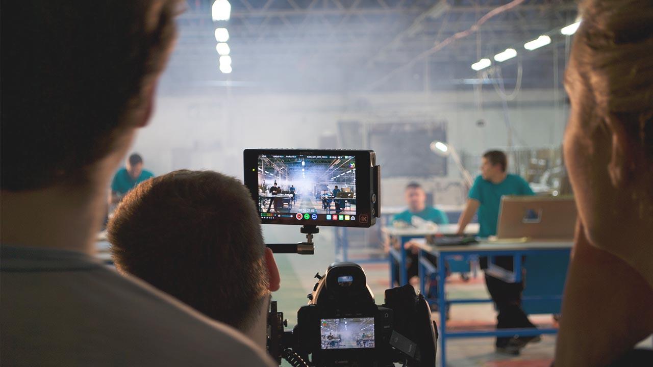 Sam Dawson and David Morgan Jones FIlming Marketing Videos